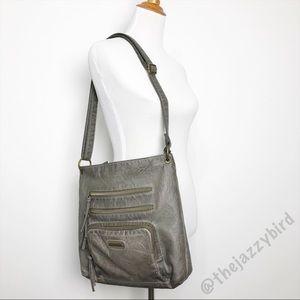 Stone & Co. Grey Vegan Leather Crossbody Bag